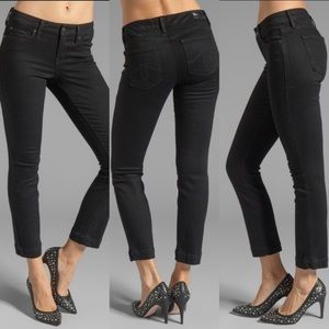 Anthropologie Level 99 • Lily Crop Black Jeans